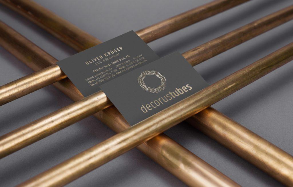 Decorus Tubes Corporate Design Grafikdesign Bremen