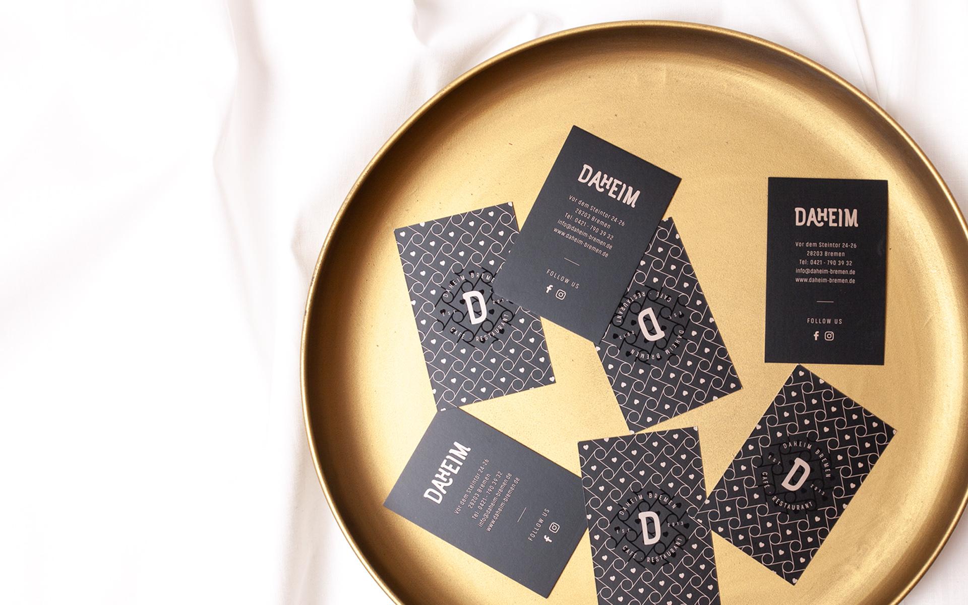 Daheim Restaurantbranding Grafikdesign Bremen Designed
